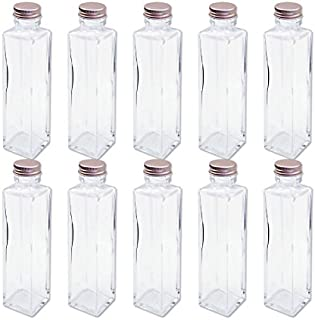 日本製 ハーバリウム 四角柱ガラス瓶キャップ付き 150cc 10本セット