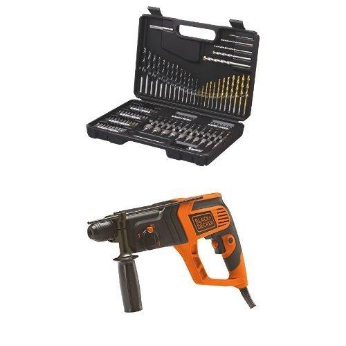 Black & Decker A7200-XJ suministro de - Herramienta (Negro, Gris) + Black & Decker KD975K rotary hammers - Martillo perforador (230V)