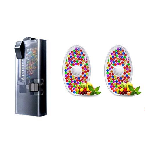 Lilico Zigarettenetui zum Selbermachen mit Minzgeschmack, Zubehör für Zigaretten, verplatzte Zigaretten (200 Perlen und 1 Pushball-Box für PC)
