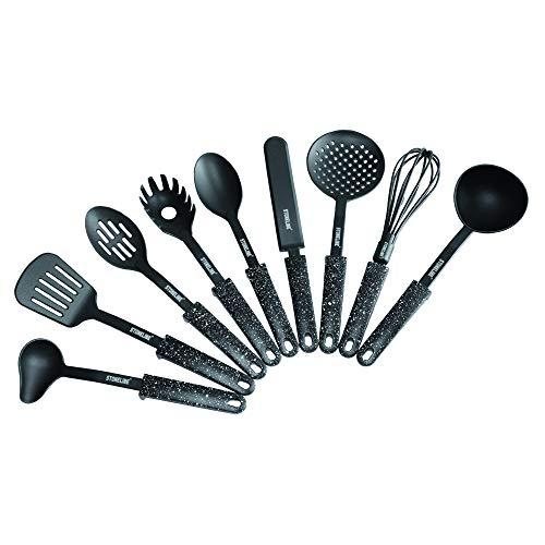 STONELINE 9-teiliges Küchenhelfer-Set, Original Design, mit praktischer Stütze, geeignet für antihaftbeschichtetes Koch- & Backgeschirr