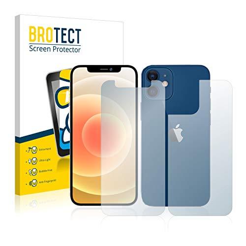BROTECT Panzerglas Schutzfolie kompatibel mit Apple iPhone 12 Mini (Vorder + Rückseite) - AirGlass, extrem Kratzfest, Anti-Fingerprint