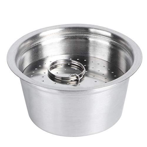 Taza de cápsula de café recargable reutilizable de acero inoxidable apta para cafetera Dolce Gusto compatible con el juego de cápsulas de café Nestle Dolce Gusto(1#)