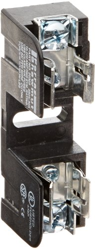 Mersen 20325 Class H and K Spring Reinforced Fuse Block with Pressure Plate Connector, 10-14 Wire Range, 30 Ampere, Adder