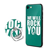 we will rock you アイフォン 7/8 スマホケース スタンド機能付き 360回転、衝撃防止 バックカバー 保護ケース 黄変防止 手触り良い、散熱加工 TPUシリコン素材電話ケース 男女兼用