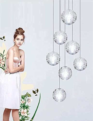 Zzzhs Diseño de estilo japonés Lámpara colgante de lámparas de vidrio de metal lámparas colgantes de altura Lámparas ajustables de altura Adecuado for bar loft, diseños de pasajes Luz de suspensión no