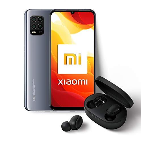 """Xiaomi Mi 10 Lite - Pack Lanzamiento (Pantalla AMOLED 6.57"""", TrueColor, 6 GB+128 GB, Cámara de 48 MP, Snapdragon 765G, 5G, 4160 mah con carga 20 W, Android 10) Gris + Mi True Wireless Earbuds S"""