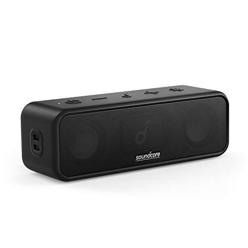 Soundcore 3 Bluetooth Lautsprecher von Anker, mit Stereo-Sound, Audiotreiber mit Titan-Membran, PartyCast, BassUp, 24 Stunden Akku, IPX7 Wasserschutz, individueller EQ, für Zuhause, Draußen, Garten