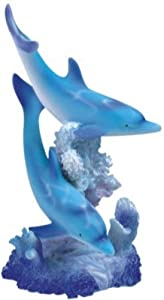 StealStreet SS-G-90065 Marine Life Two Dolphin Design Figurine Statue Decoration Collection