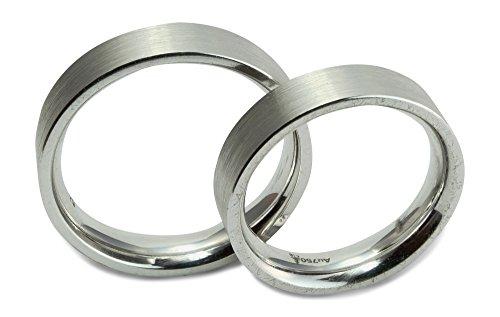 Christian Bauer Trauring Ehering Verlobungsring 750 Weißgold 18 ct matt schlicht Größe 62 R06-A0016