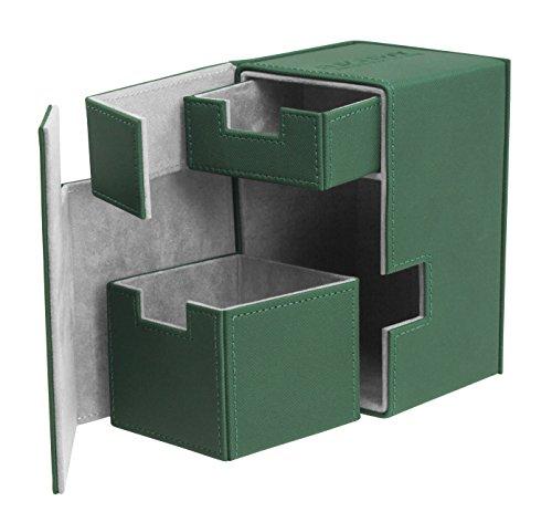 Ultimate Guard 100/120 Card Flip N Tray Xenoskin Deck Case, Green