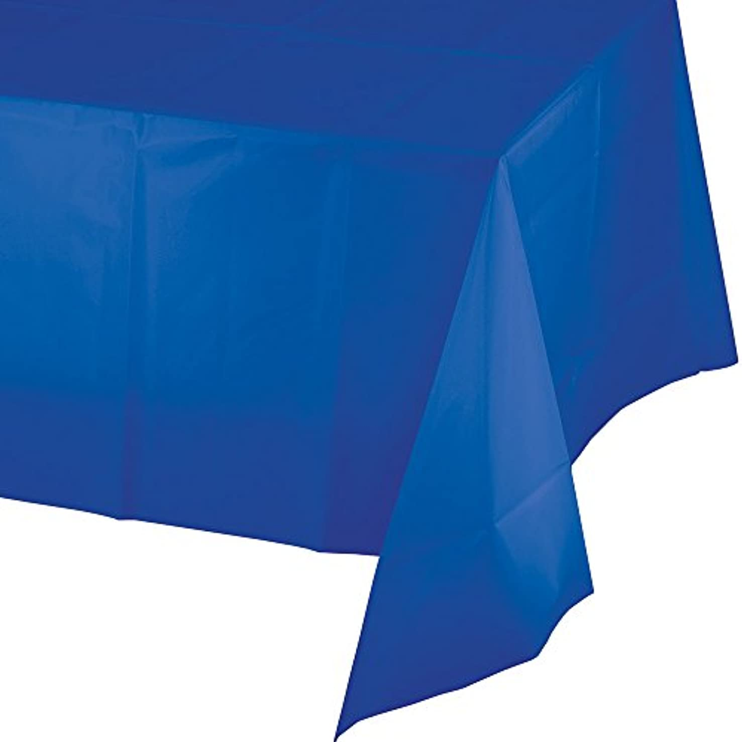 Creative Converting 317372 12-Count Celebrations Plastic Table Covers Cobalt Blue,