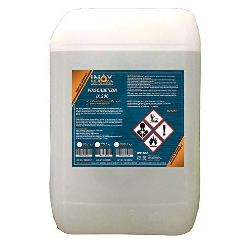 INOX® IX 200 Waschbenzin, 25L - Reinigungsbenzin für Textilien und Oberflächen in Auto oder Werkstatt mit hoher Fett- und Schmutzlösekraft