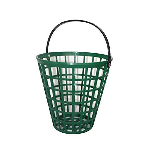 Afittel0 Korb für Golfbälle, Aufbewahrungsbehälter, für draußen, Grün, praktisch, für Zuhause, platzsparend, aus Nylon, Clubs, hohe Kapazität, stapelbar, tragbar mit Griff (25), Siehe Abbildung., 75
