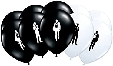 roulette bunting /& Assorted Casino Printed Latex Balloons pack of 6 Casino