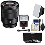 Sony Alpha E-Mount Vario-Tessar T FE 16-35mm f/4.0 ZA OSS Zoom Lens + Flash & Soft Box + Diffuser + 3 Filters Kit for A7, A7R, A7S Mark II, A5100, A6000, A6300