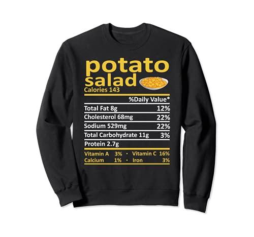 Patato Salad Nutricin Informacin Alimentaria Disfraz de Accin de Gracias Navidad Sudadera
