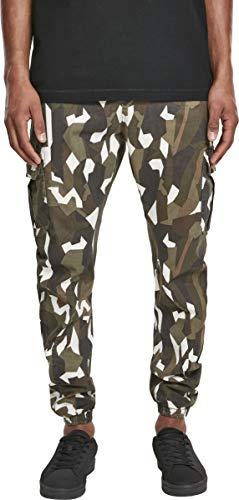 Urban Classics Geometric Stretch Twill Cargo Pants Pantalones, Multicolor (Wood Camo 00396), 40 (Talla del Fabricante: 38) para Hombre