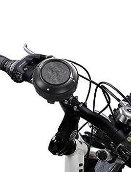 Outdoor Waterproof Bluetooth Speaker,Kunodi Wireless Portable Shower Travel Bike Speaker with Subwoofer Enhanced Bass Built in Mic for Bicycle Riding Sports Pool Beach Hiking  Black & Bracket