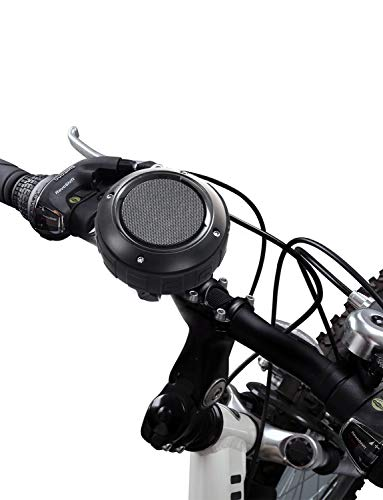 Outdoor Waterproof Bluetooth Speaker,Kunodi Wireless Portable Shower Travel Bike Speaker with Subwoofer, Enhanced Bass, Built in Mic for Bicycle Riding, Sports, Pool, Beach, Hiking (Black & Bracket)