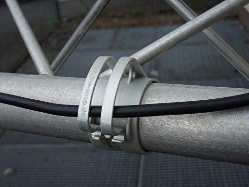 10 x THE SNAP Traversenklammer Light Grau ohne Steckdosenhalter (10x SNAP light Grau)