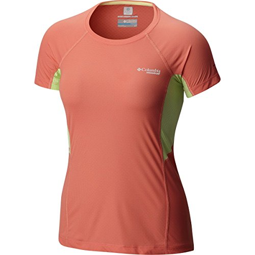 Columbia Titan Ultra T-Shirt Manches Courtes Femme, Lychee, FR (Taille Fabricant : XS)