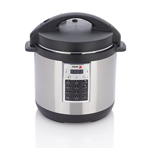 Fagor 670041930 Premium Electric Pressure and Rice Cooker, 6 quart, Silver