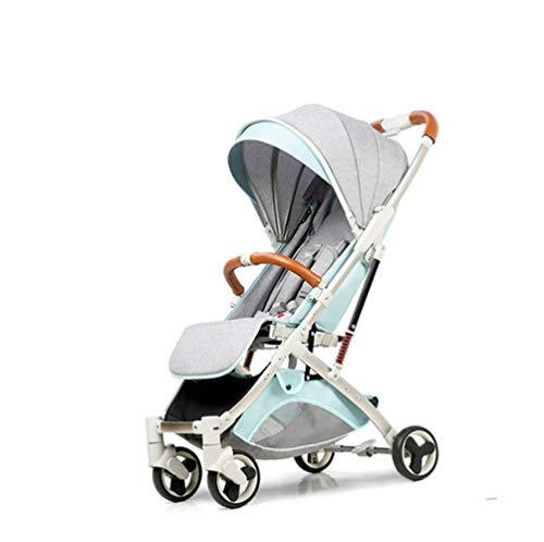 LYzpf Leichter Baby Kinderwagen Tragbar Stilvolle Babyartikel Kombikinderwagen Babyausstattung Buggy Faltbar Babyzubehör Babyprodukte Kompakt Zubehör für 0-36 Monate,Light-Blue