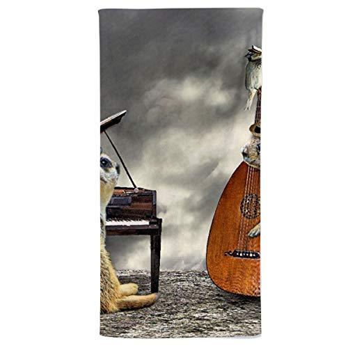 fotobar!style Strandhandtuch 90 x 180 cm EIN Motiv aus dem Kalender Tierische Trios