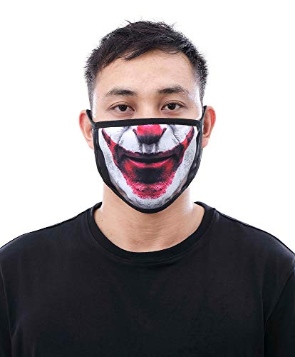 Eternity BC/AD Clown Fashion Mask, Multi, One Size
