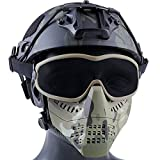 AQzxdc Máscara De Paintball De Media Cara con Gafas, Máscaras Tácticas De Airsoft, para El Juego De Guerra CS BBS Hunting, Equipo De Protección Táctica con Traje De Casco,Suit CP