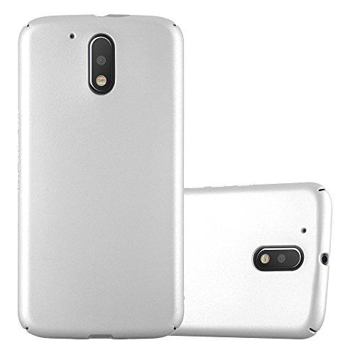Cadorabo Hülle für Motorola Moto G4 / Moto G4 Plus - Hülle in Metall Silber – Hardcase Handyhülle im Matt Metal Design - Schutzhülle Bumper Back Case Cover