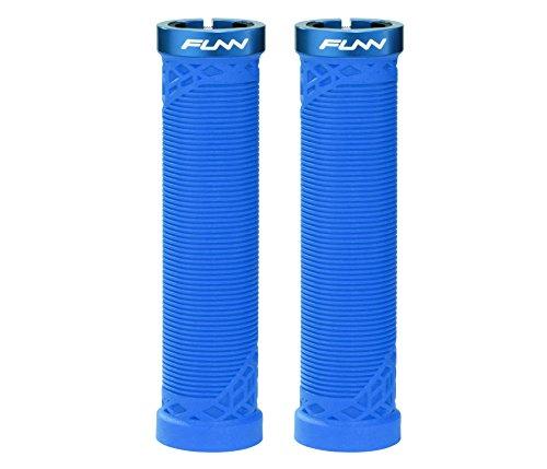 Funn Hilt Mountain Bike Handlebar Grips with Single Lock-on Clamp, Lightweight and Ergonomic Grips for MTB (Blue)