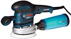 DUST COLLECTION: Features two dust collection systems including a micro filter dust canister with integrated paper filter and screw off cap and a vacuum hose connection with airflow control giving users a mess free job site VERSATILITY: The Bosch ROS...