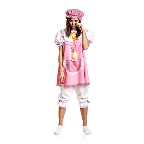 Kostümplanet® Baby-Kostüm für Damen + Mütze rosa witziges Faschingskostüm Größe 44/46