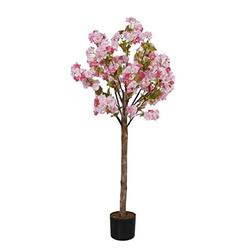 MYBA - Árbol artificial de cerezo artificial para decoración del hogar, decoración del hogar, salón o hotel, plantas artificiales (color: rosa)