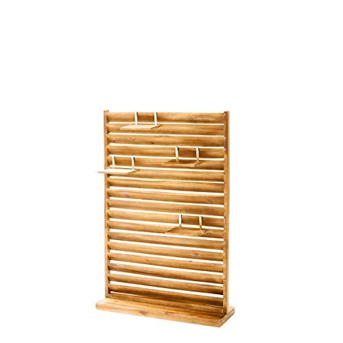 Garten Sichtschutz - Paravent - Freistehend - Holz - ca. 80 x 120 cm - Hellbraun