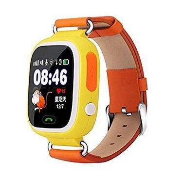 Q90 GPS Reloj inteligente para niños Reloj de bebé Tarjeta Sim Smartwatch Teléfono Seguro Anti-Perdida Monitor SOS Llamada Niños Reloj de pulsera deportivo (amarillo)