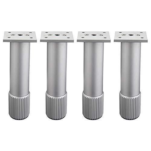 APOE 4 Stück Möbelfüße Schrankfüsse Metall Verstellbar Couchtisch Beine (6-30cm), für Sofabeine, Kleiderschränke, Küchen, Badezimmer