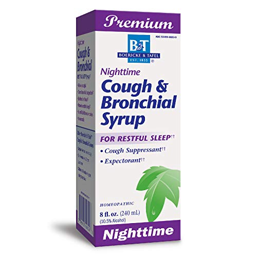 B&T Nighttime Cough & Bronchial Syrup for Restful Sleep Homeopathic, 8 Oz. (Nature's Way Brands)