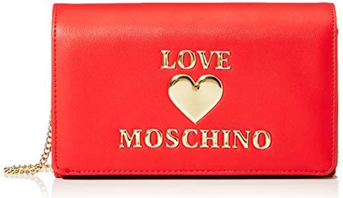 Love Moschino Borsa PU, Sac à Main pour Femme, Rouge, Normale