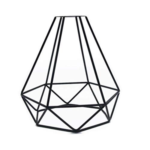 Mekta Restaurant Kronleuchter Lampenschirm,Vintage Diamant Form Käfig Lampenschirm Industrie Retro Metall Vogelkäfig Birne Wache Licht Lampenfassung