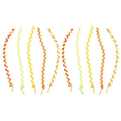Lurrose 12 Piezas de Accesorios para El Cabello de Broches de Pelo en Espiral de Broches para El Cabello Accesorios para El Cabello para Niñas Y Niños Diseño de Cabello Amarillo.