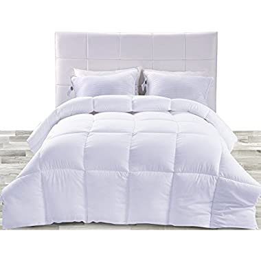 Utopia Bedding Lightweight Comforter, Ultra Soft Down Alternative (White, King) - All Season Comforter - Plush Siliconized Fiberfill Duvet Insert - Box Stitched
