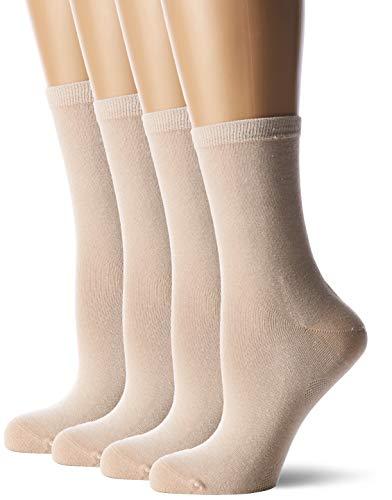 Gabor Damen GA51000000 Socken, Beige (Nouvelle Beige 8100), 39/42 (4er Pack)