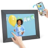 BSIMB Smart WiFi Digital Picture Frame, Electronic Photo Frame with IPS Touch Screen, 16GB Internal Memory, Sharing Photos/Videos via App Email, Gift for Grandparents (Black)