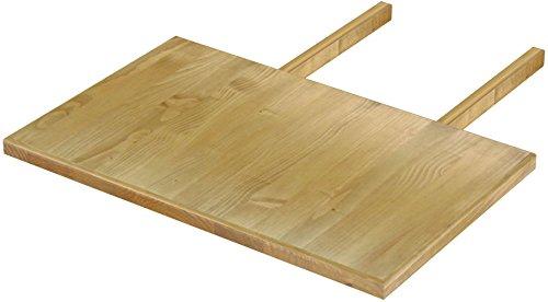 Brasilmöbel Ansteckplatte 50x80 Brasil Rio Classiko oder Rio Kanto - Pinie Massivholz Echtholz - Größe & Farbe wählbar - für Esstisch Tischverlängerung Holztisch Tisch Erweiterung ausziehbar