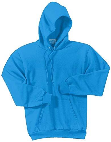 Neon Aqua Blue Pullover Hoodie Mens