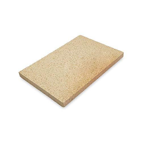 PUR Schamotte Schamottplatte 300 x 200 x 20 mm 2 Platten für Kamin Ofen Grill I Schamottstein Lebensmittelecht