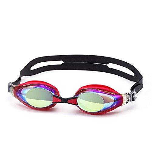 HD zwembril waterdichte mannen en vrouwen mist bril (Kleur : Rood)