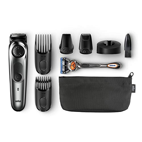 Braun BT 7040 Beard Trimmer & Hair Clipper, Black/Grey